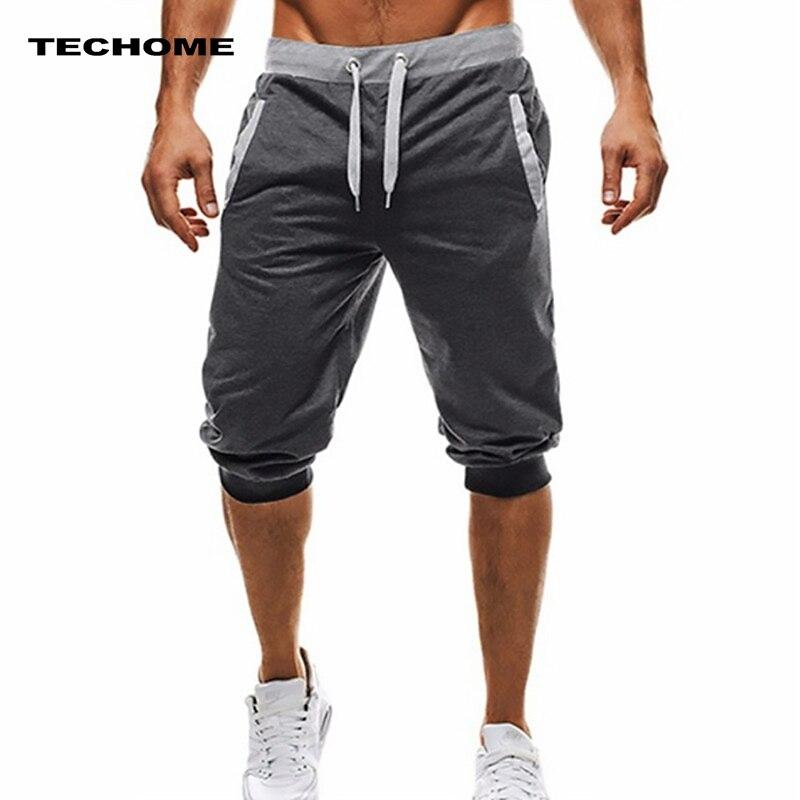 Summer Men Casual Sweatpants Shorts 1/2 Trousers Short Fitness Clothing Bodybuilding Men Shorts Soft Cotton Trousers Shorts XXXL