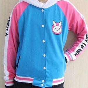 Image 4 - Ropa de Anime sudadera de juego DVa disfraz de Cosplay D.Va abrigo de béisbol para adulto D.Va chaqueta femenina Cosplay sudaderas finas para hombres y mujeres