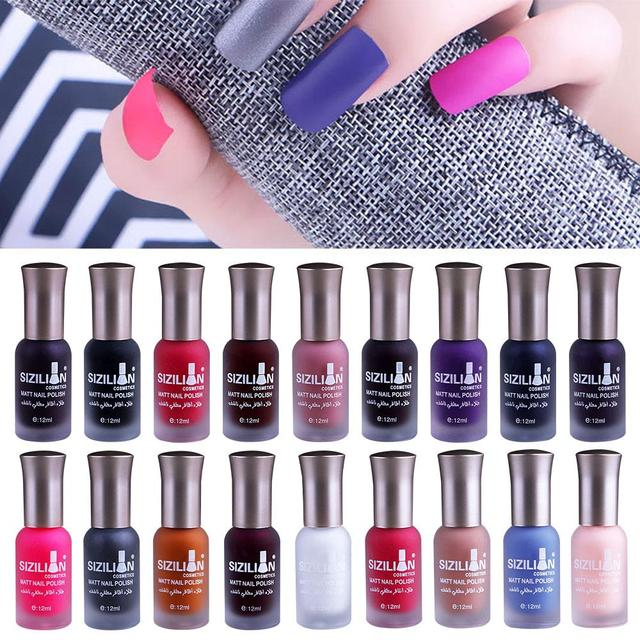 Aliexpress buy matte satin scrub frosted nail polish non matte satin scrub frosted nail polish non toxic nail art gel manicure 40 colors prinsesfo Image collections