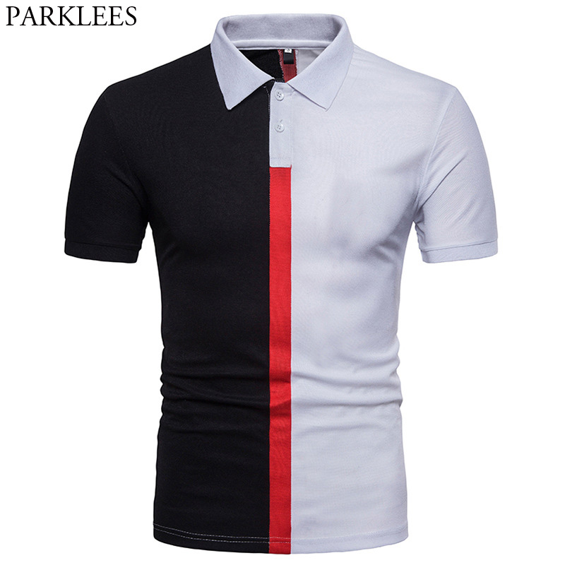 Mens Hipster Brand Hit Color   Polo   Shirt 2018 Summer New Slim Fit Short Sleeve Tops Tee Shirt Men   Polo   Shirts Casual   Polo   Homme