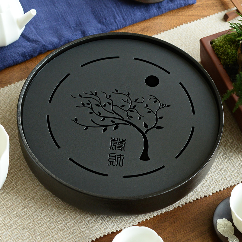Metal Plate Ceramic Gong Fu Tea Tray 1