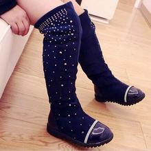 Г. Обувь для родителей и ребенка новые высокие сапоги принцессы, стразы, для девочек кожаные детские высокие сапоги для детей, модные сапоги