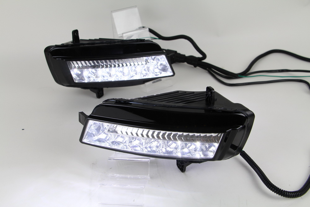 Car-styling LED Front DRL Daytime Running Light Fog Light Fog Lamp For VW Golf 7 Golf MK7 2013 2014 car styling led drl daytime running light for volkswagen vw golf 7 mk7 2013 2017 led bumper drl with yellow turn signal
