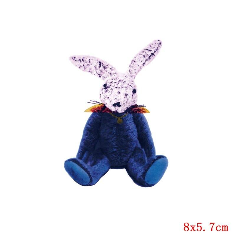 Prajna милый кролик патч теплопередача Винил утюг на передачу для одежды мультфильм значок глажка наклейки аппликация уровень - Цвет: Лимонно-желтый