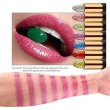 1 PC Magic Makeup Glitter Diamond Lipstick Temprature Color Changed Lipsticks Luxury Pink Cosmetic Brand Make Up Lip WD