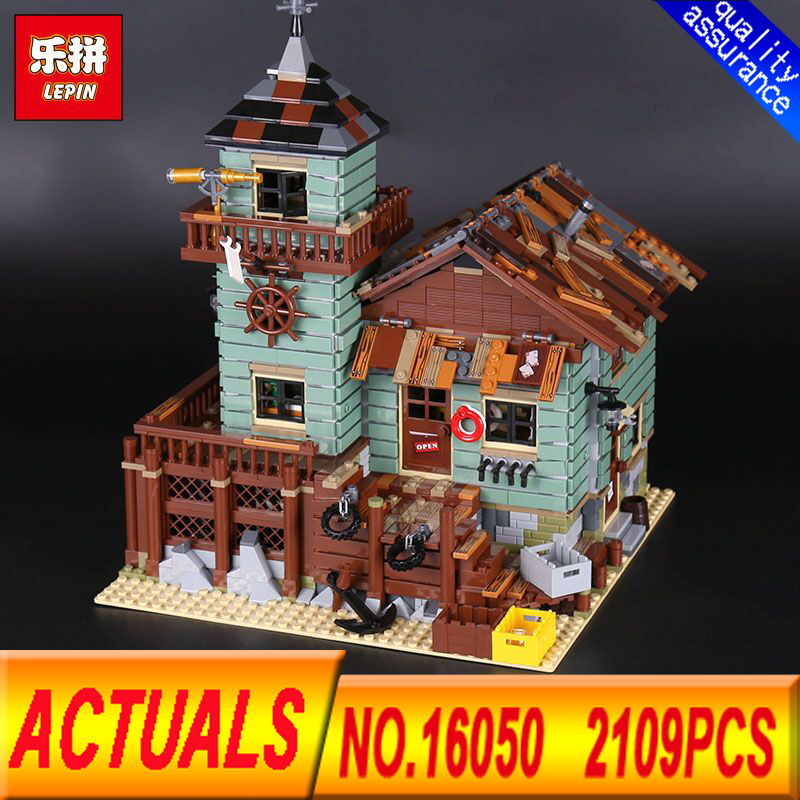 Lepin 16050 2109Pcs MOC Series The Old Finishing Store  Children Educational Building Blocks Bricks Toys Model Clone 21310 the little old lady in saint tropez