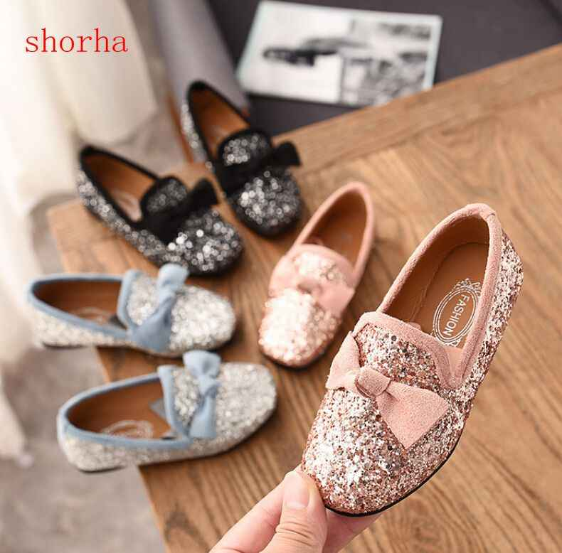 f3d93cb8ae Bakkotie 2019 New Autumn Fashion Baby Girl Glitter Flats Children ...