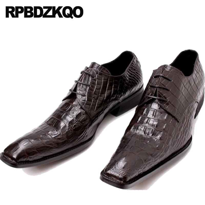 China Men Dress High Heel Black Snake Snakeskin Skin Alligator 46 Plus Size Office Monk Strap Brand Luxury Crocodile Shoes 11 Men's Shoes Formal Shoes