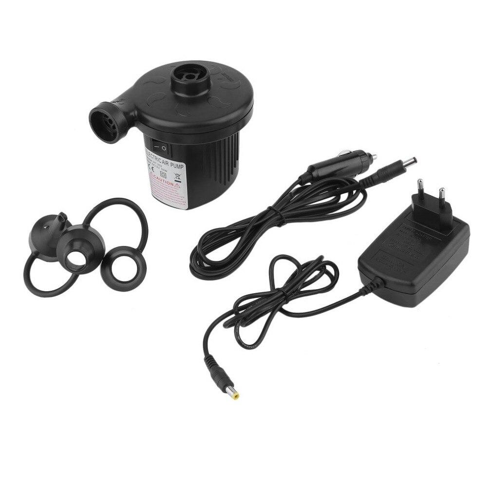 Автомобильный воздушный насос прикуривателя DC12V 50 Вт черный автомобиль электрический Надувное Defator надувной насос с 3 насадками ЕС Hot Plug