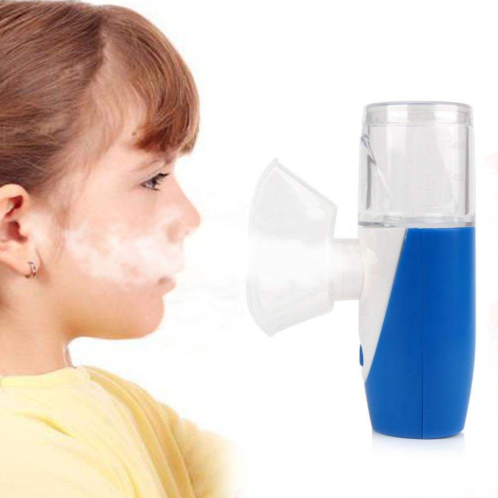 2017 Top Selling Atomizer Inhaler Handhead Mini Ultrasonic Nebulizer Portable USB Rechargeable Mesh Nebuliser Humidifier