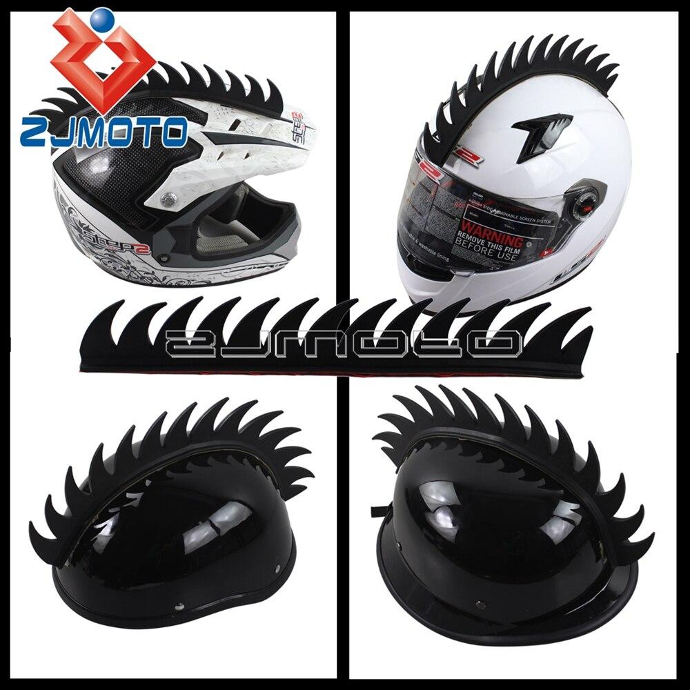PC Racing Green Helmet Mohawk for Most Adult Motorcycle Helmets