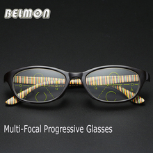 Belmon Multi-Focal Progressive Reading Glasses Men Women Presbyopic Eyeglasses Prescription Eyewear +1.0+1.5+2.0+2.5+3.0 RS802