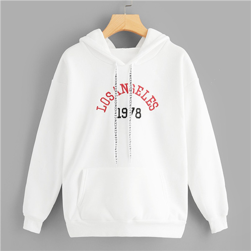 8d80d70e653 [6] Dotfashion White Letter Embroidered Drawstring Pocket Hoodie Women  Preppy Autumn Pullovers Hooded Spring Long Sleeve Sweatshirt-in Hoodies &  Sweatshirts ...
