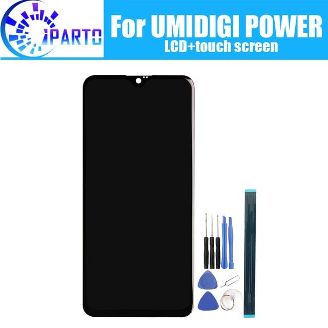 6.3 นิ้วUMIDIGI POWER LCD Display + หน้าจอสัมผัส 100% จอLCDเดิมDigitizerเปลี่ยนแผงกระจกสำหรับUMIDIGI POWER