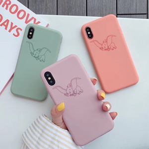 3D Cute Dumbo Cartoon Pink Elephant circus cover case for Apple iPhone 8 7 Plus 11SE Pro XS Max lovely candy Soft phone coque(China)