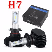 1 Set H7 S1 CSP LED Headlight Slim Conversion Kit 50W 8000LM Fanless All In One