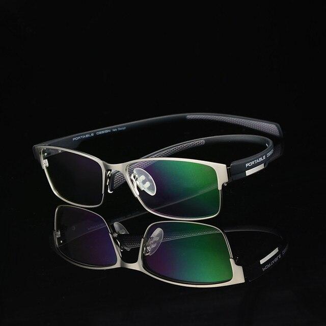 Мужчины сплава оптические оправы для очков дизайнерские очки полный кадр оптики Большие оправе близорукие очки 9153 очки
