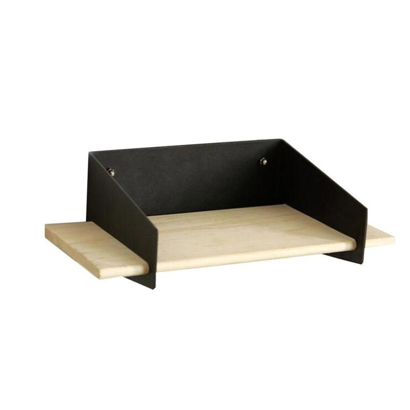 Wandplank wandplank ornament fotos : Online Shop Wooden Iron Wall Shelf Shelving Rack Decor Kitchen ...