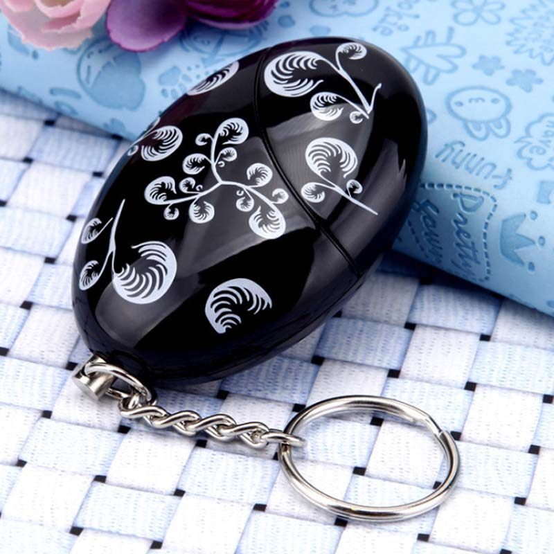 Women Mujer Personal Anti-attack Anti-wolf Security Siren Alarm Protection Keychain Ring Outdoor Sports Camping Self-defense Kit