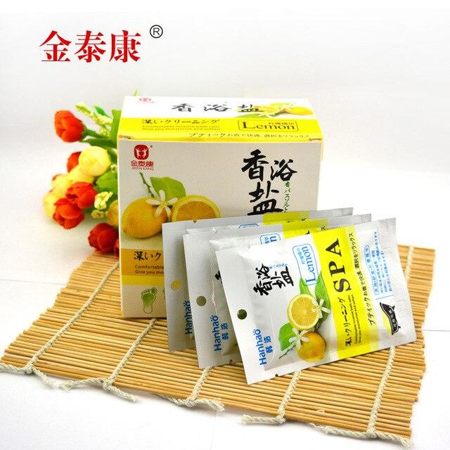 30 г * 15 пакет Lemon ванна для ног соль Китайской медицины, чтобы впитать ноги порошок мешки