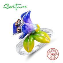 Серебряный цветок Кольца для женщины шампанское кубического циркония Для женщин Кольца чистый стерлингового серебра 925 партия Модные украшения
