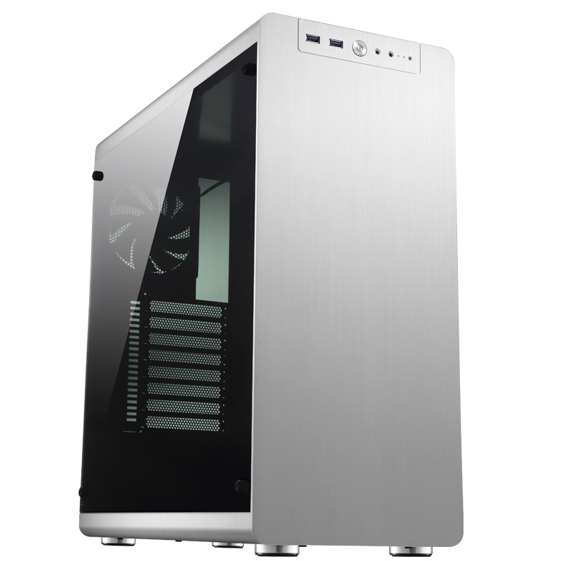 Jonsbo RM4 ATX Chassis Aluminum shell tempered glass single side through Computer Chassis jonsbo rm2 aluminum chassis atx small chassis support atx motherboard atx power supply