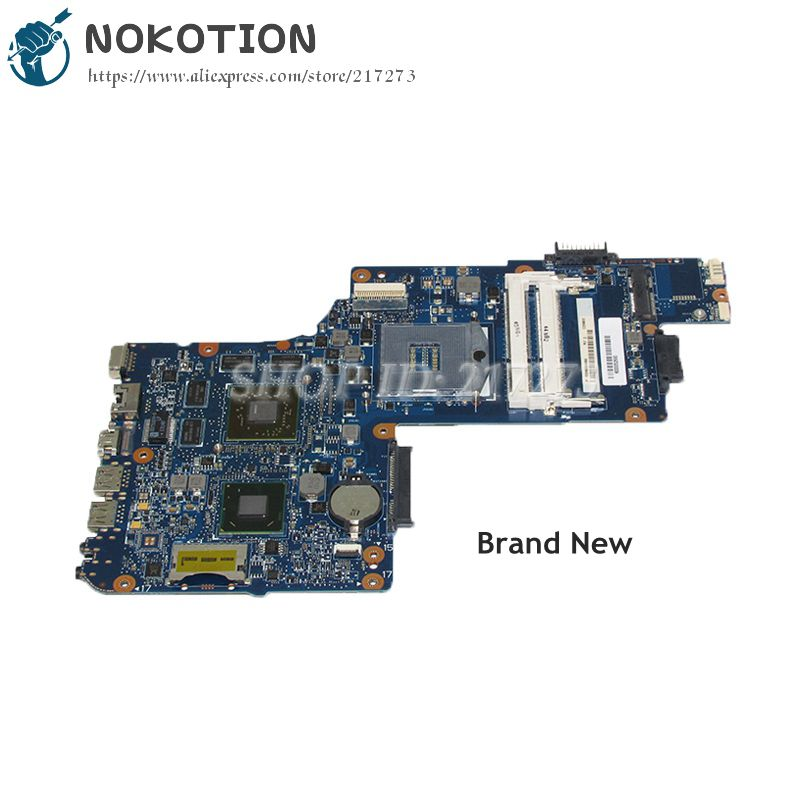 NOKOTION New MAIN BOARD For Toshiba Satellite C850 L850 Laptop Motherboard H000052690 HM76 DDR3 HD7610M Video card