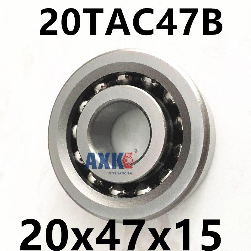 1pcs 20TAC47B 20 TAC 47B SUC10PN7B 20x47x15 AXK High Speed High Load Capacity Ball Screw Support Bearings ab 47b black