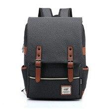 Men Canvas Laptop Backpack Large Computer Backpacks Casual Student School Notebook Bag Book Packs Travel Rucksack