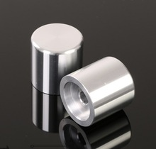 2pcs/lot 25x25mm. Inner hole:6mm Solid Aluminum Knob Potentiometer Volume Knob cap цены