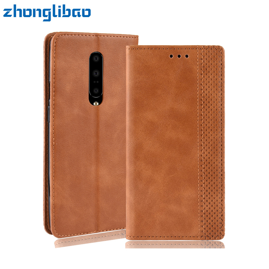 Luxury Leather <font><b>Flip</b></font> Case for <font><b>Oneplus</b></font> 7 Pro 6 6T 5 5T 3 Card Slots Wallet Magnetic Book <font><b>Cover</b></font> for One Plus 7 Pro Oneplus7 Case image