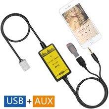 Оригинальная запатентованная-Car USB AUX аудио Mp3 адаптер cd-чейнджер вспомогательный адаптер для Toyota Avensis 2003-2011, auris (после 2007)