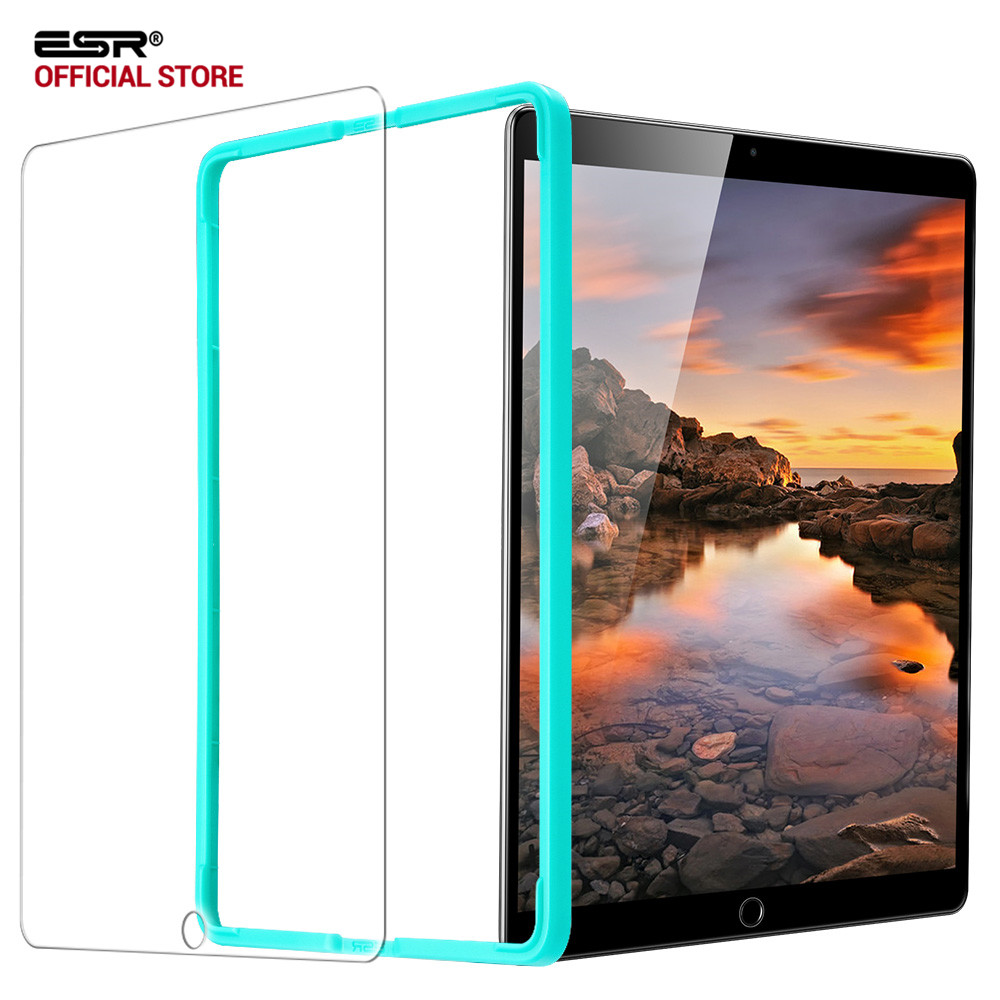 Screen Protector for iPad 9.7 2018, ESR Free Applicator Tempered Glass Film for iPad 2018 New release/For iPad Pro 9.7 2017 Air2 glass film for ipad mini 4 esr anti blue ray blue light tempered glass screen protector with free applicator for ipad mini 4