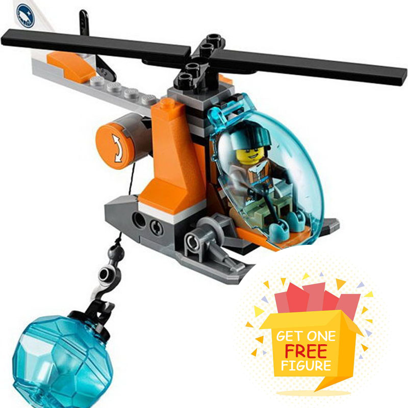 Bela Pogo Compatible Legoe BL10443 Arctic Snowmobile Camp Ship Helicopter Urban Police City Building Blocks Bricks toys for цена