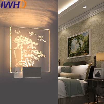 IWHD Acrylic Modern LED Wall Lamp Fashion Children's room Living Bedroom Room Wall Light Fixtures Home Lighting Stairs Arandela led wall lights acrylic modern living room bedroom home decoration wall lamp for bedside bedroom restroom wall mounted wall lamp