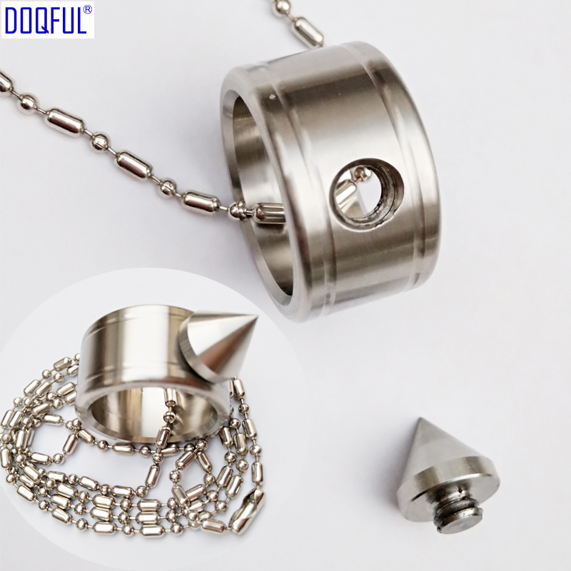 50pcs Self Defense Stainless Steel Finger Ring Bead Chain Outdoor Survival Protective Fashion Jewelry EDC Tactical Safety Weapon