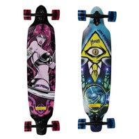 36 x 9 Skateboard Cruiser ABEC 7 Bearing Four wheel Long Skateboard Cruiser 7 layers Maple Longboard Skates Board Free shippin