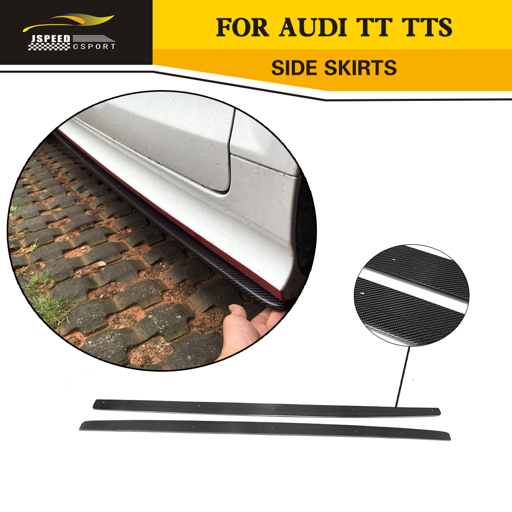 car styling carbon fiber auto side body skirts lip kits for Audi TT coupe 2013-2014 TTS 2008-2013