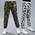 2016 El Nuevo Ocio Panty Boy Camuflaje Pantalones de Marea Otoño Usan Pantalones de Los Niños ropa de Los Niños