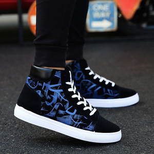 Image 4 - Cresfimix zapatos hombre male fashion new stylish black pattern high shoes men cool spring & autumn comfy lace up shoes a2098