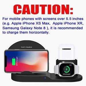 Image 3 - Qi Wireless 3 in 1 halter stehen station ladegerät 7,5 W Für Iwatch 5 4 3 2 Iphone 11 Pro Max XS MAX XR Apple Uhr Airpods 1 dock