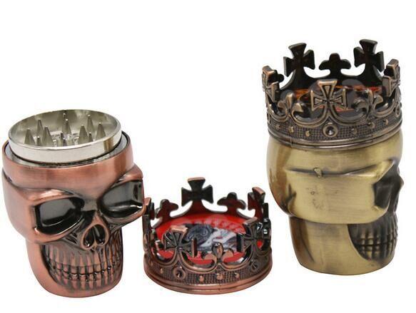 Травяная Мясорубка в форме головы черепа, из сплава цинка, для кальяна, табака, дыма, воды, трубы, стеклянная труба, Диаметр 47 мм, размер