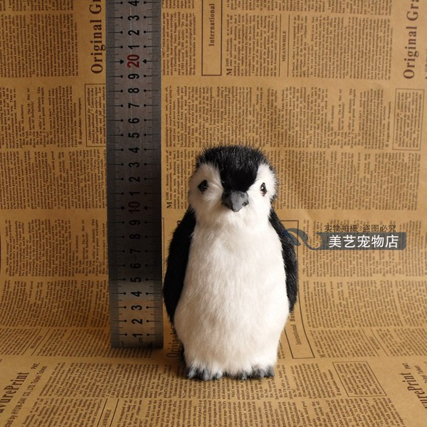 lovely simulation penguin toy lifelike penguin doll gift about 14x8xx8cm