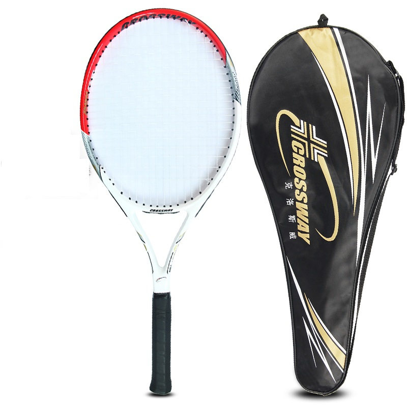 Tenis hommes & womenTennis Raquette Haute Qualité En Alliage D'aluminium de Carbone Raquette De Tennis Raquettes Équipée avec Sac 2018 Nouveau