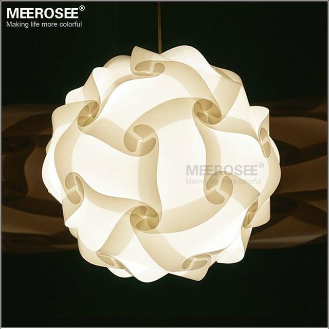 DIY bola pendiente moderna lámpara nueva lámpara colgante de plástico color blanco luces colgantes tamaño 25 cm/30 cm/40 cm