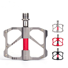 цена на Mountain bike aluminum alloy bearing pedal road bike ultra light Palin pedal bicycle pedal