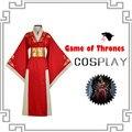 2017 traje de la reina cersei lannister rojo de lujo dress juego de tronos cosplay cospiay