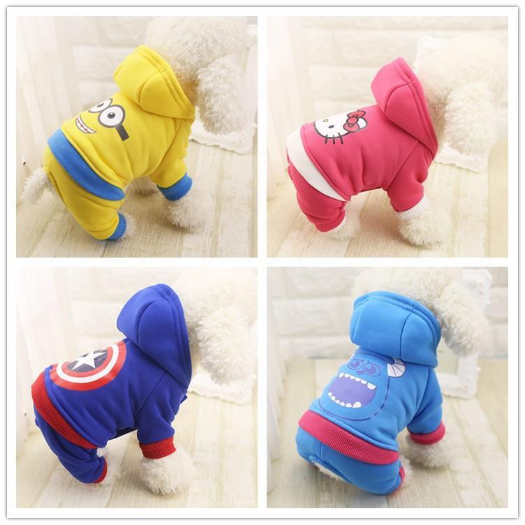 Survêtements très mignons pour votre chien ou chiot, minion bob, hello kitty, captain america, Monstre & Cie