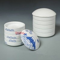 5 layer=1set ,Calligraphy Tool Ceramic Ink Plate Paint Dish Chinese Painting Supplies