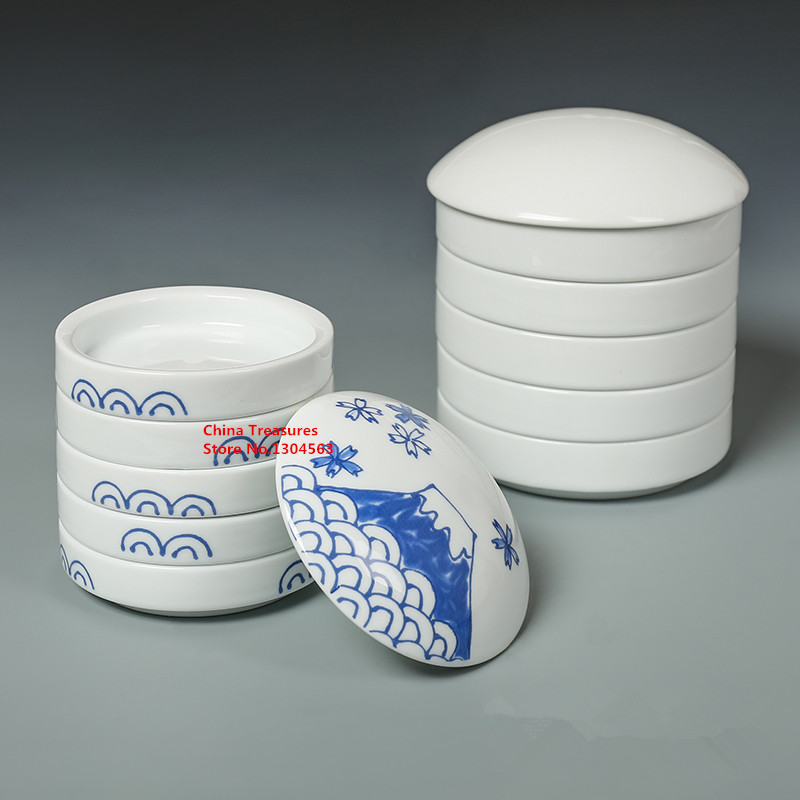 Outil de calligraphie plaque d'encre en céramique, outil de peinture 5 couches = 1 ensemble